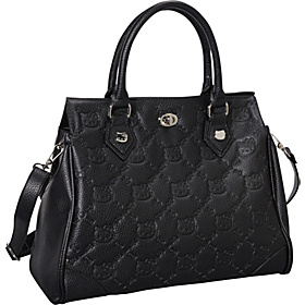 Hello Kitty Black Faux Leather Satchel Black