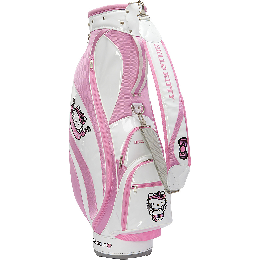 Hello Kitty Golf Hello Kitty Golf Mix Match Cart Bag White Pink Hello Kitty Golf Golf Bags