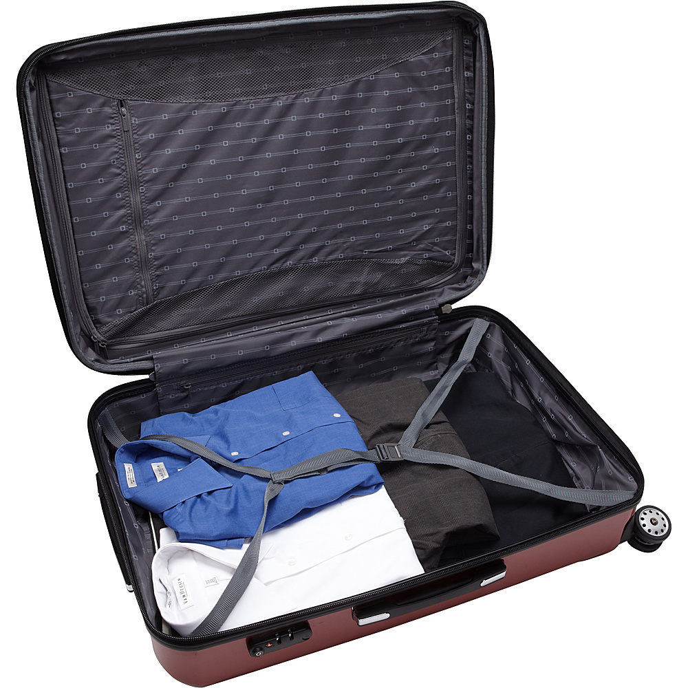 """Delsey Helium Aero Expandable Spinner Trolley - 29"""" Titanium - Delsey Hardside Checked"""
