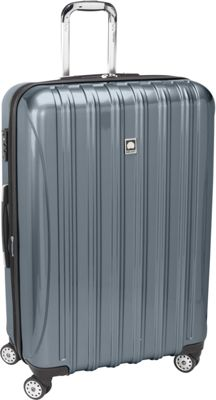 Delsey Helium Aero Expandable Spinner Trolley - 29 inch Titanium - Delsey Hardside Checked