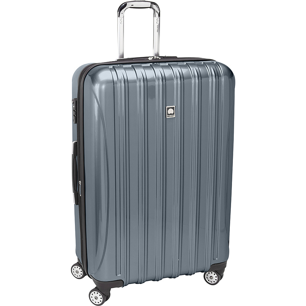 "Delsey Helium Aero Expandable Spinner Trolley - 29"" Titanium - Delsey Hardside Checked"