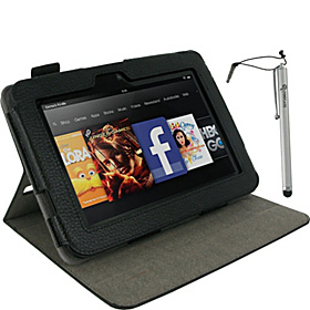 "Dual-View Case w/ Stylus for Kindle Fire HD 7"" Black"
