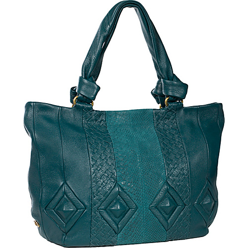 Elliott Lucca Catina Large Work Tote Deep Teal Multi - Elliott Lucca Leather Handbags
