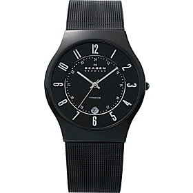 Black Mesh Titanium Men's Watch Black