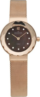 Skagen Rose Gold Tone Steel Mesh Women's Watch Rose Gold - Skagen Watches