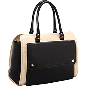 Colour Block Ella Bag Cream/Charcoal