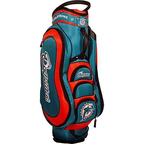 team-golf-nfl-miami-dolphins-medalist-cart-bag-teal-team-golf-golf-bags