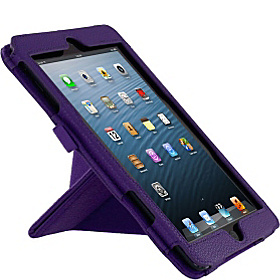 Origami Dual-View Vegan Leather Case for iPad mini Purple
