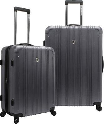 Traveler's Choice New Luxembourg 2pc Expandable Hardside Luggage Set Pewter - Traveler's Choice Luggage Sets