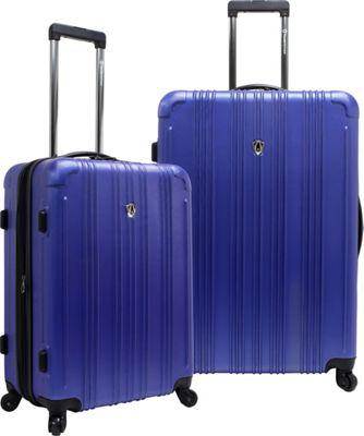 Traveler's Choice New Luxembourg 2pc Expandable Hardside Luggage Set Royal Blue - Traveler's Choice Luggage Sets