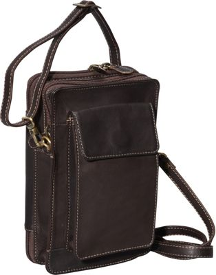 Derek Alexander NS Top Zip Organizer Brown - Derek Alexander Leather Handbags
