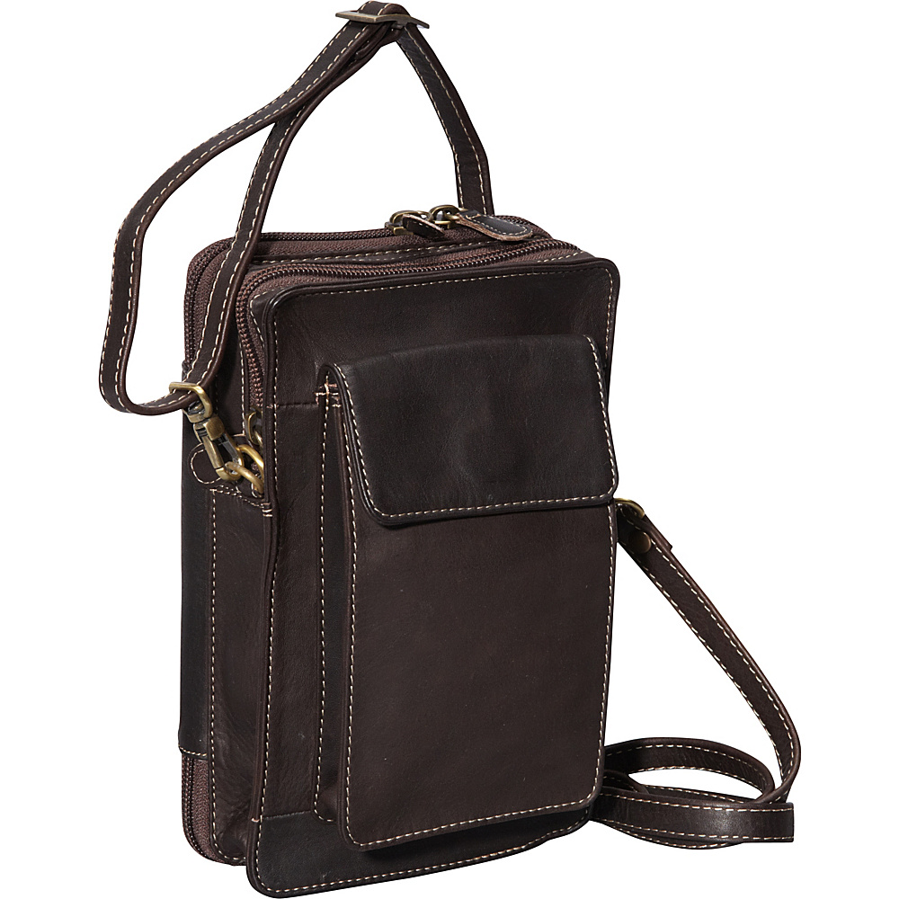 Derek Alexander NS Top Zip Organizer Brown - Derek Alexander Leather Handbags - Handbags, Leather Handbags
