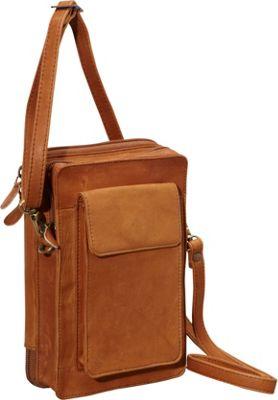 Derek Alexander NS Top Zip Organizer Tan - Derek Alexander Leather Handbags