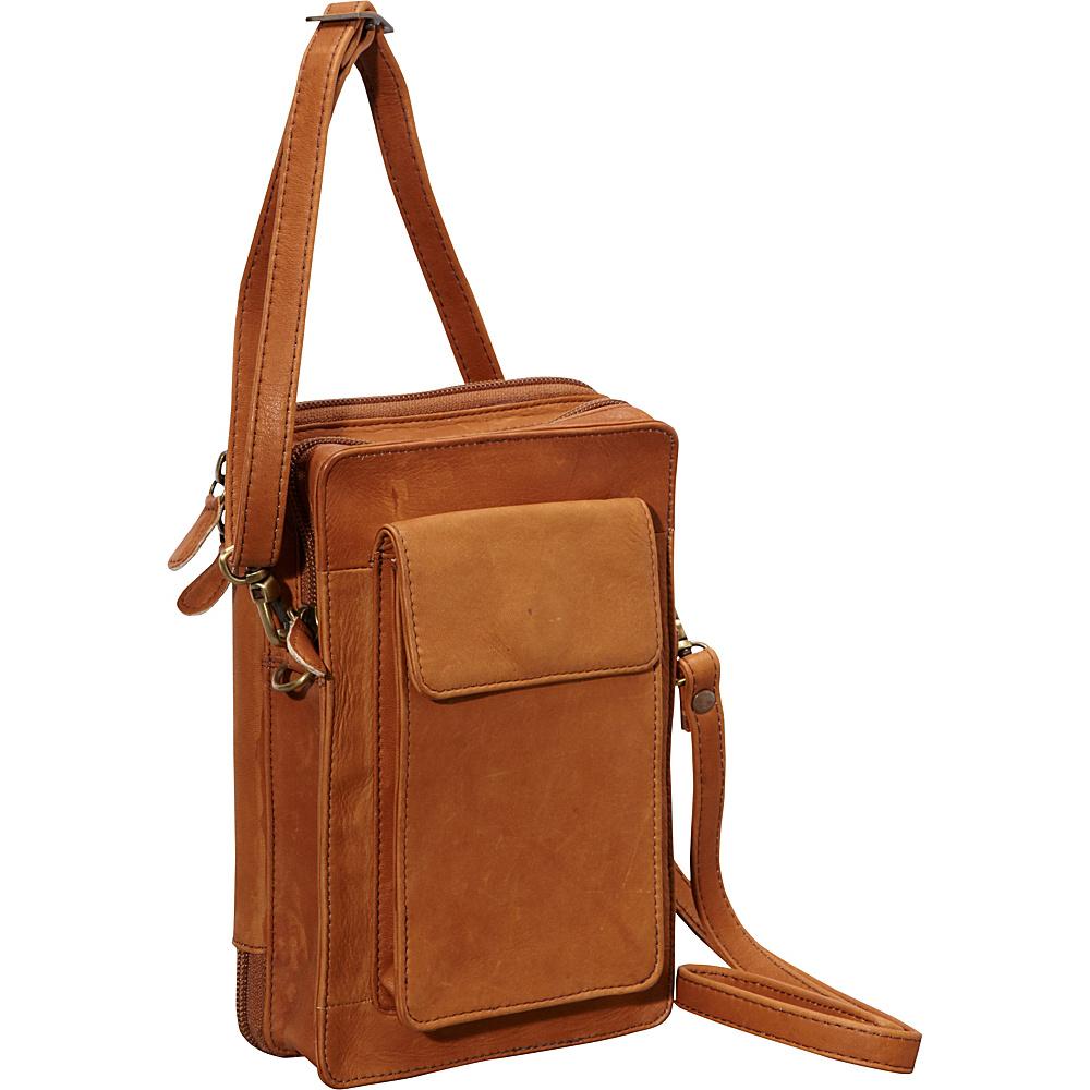 Derek Alexander NS Top Zip Organizer Tan - Derek Alexander Leather Handbags - Handbags, Leather Handbags