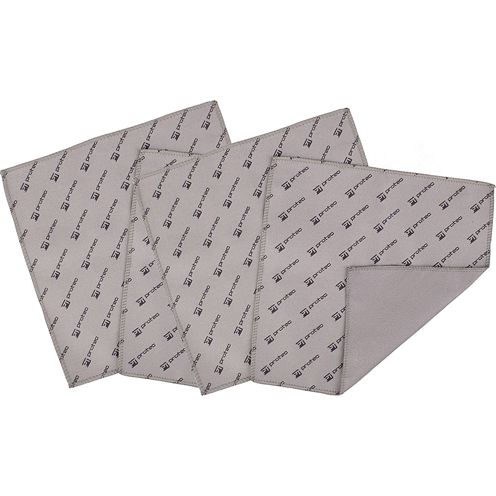 "Protec 7x7"" Microfiber Cloths (4 Pack) Grey - Protec Laptop Sleeves"