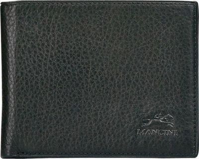 Mancini Leather Goods San Diego Collection: Mens Classic Billfold Wallet Black - Mancini Leather Goods Men's Wallets