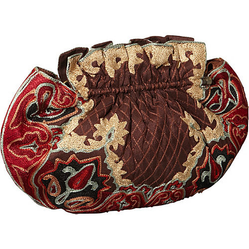 Moyna Handbags Silk Purse Brown - Moyna Handbags Evening Bags