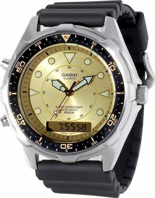 Casio Men's Ana-Digi Alarm Chronograph Dive Watch Black - Casio Watches