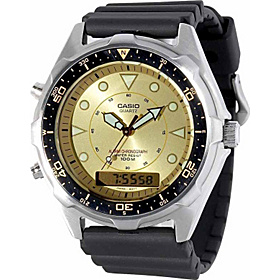 Men's Ana-Digi Alarm Chronograph Dive Watch  Black