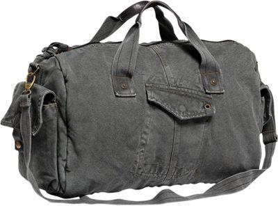 Vagabond Traveler Medium Canvas Travel Duffel Bag Grey - Vagabond Traveler Rolling Duffels