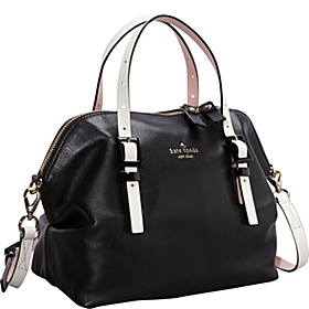 Waverly Street Drew Zip Top Tote Black