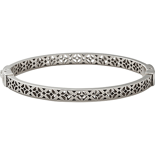 Fossil Signature Bangle Silver - Fossil Jewelry
