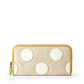 Key Per Dot Zip Clutch Bone