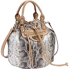 Marais Nylon Alvina Bucket Natural Python