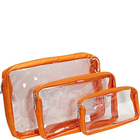 Clear Trio Baggs Orange/Pink