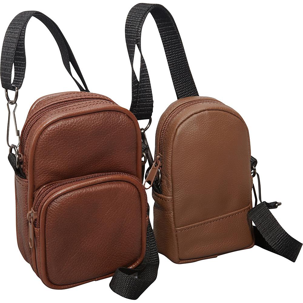 AmeriLeather All Purpose Accessories Pouch 2-pc. Set Brown - AmeriLeather Electronic Accessories - Technology, Electronic Accessories