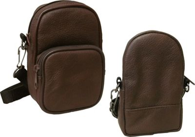 Image of AmeriLeather All Purpose Accessories Pouch 2-pc. Set Dark Brown - AmeriLeather Travel Shoulder Bags