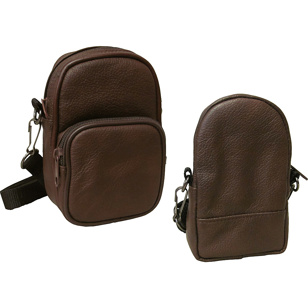 AmeriLeather All Purpose Accessories Pouch 2-pc. Set Dark Brown - AmeriLeather Electronic Accessories - Technology, Electronic Accessories