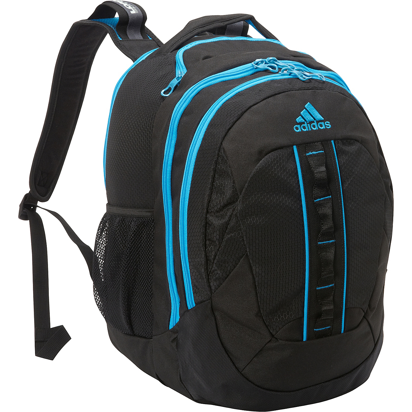 Ridgemont Backpack Black Solar Blue adidas School   Day Hiking Backpack a48dc8b1fe571
