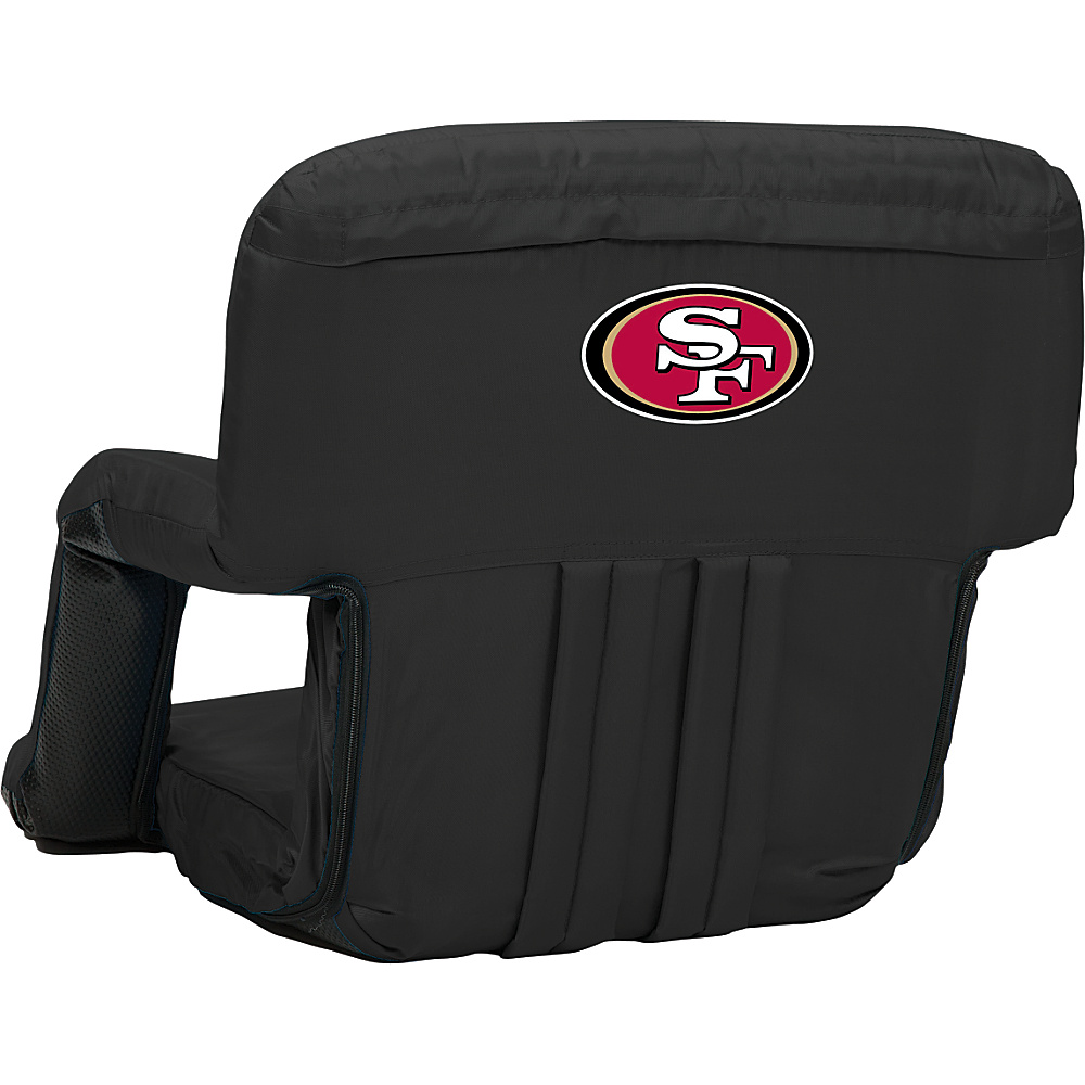 Picnic Time San Francisco 49ers Ventura Seat San Francisco 49ers Black - Picnic Time Outdoor Accessories - Outdoor, Outdoor Accessories