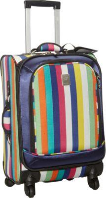 Jenni Chan Multi Stripes 360 Quattro 21 inch Luggage Multi Stripe - Jenni Chan Softside Carry-On