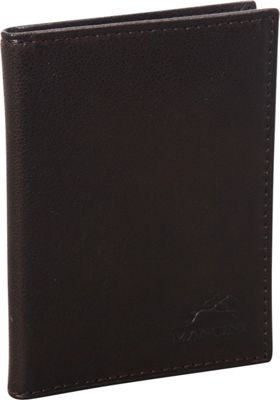 Mancini Leather Goods San Diego Collection: Metro Credit Card Passcase Wallet Brown - Mancini Leather Goods Men's Wallets