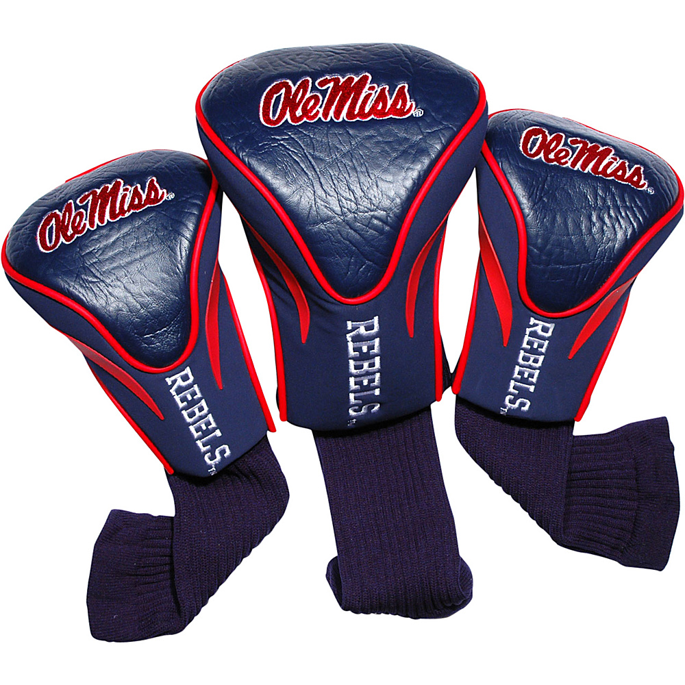 Team Golf USA University of Misissippi Rebels 3 Pack Contour Headcover Team Color - Team Golf USA Golf Bags