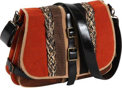 Nicole Lee Taylor Multi-Texture Works Shoulder Bag ORANGE - Nicole Lee Manmade Handbags