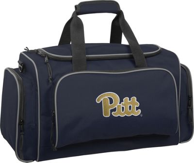 Wally Bags University of Pittsburgh Panthers 21 inch Collegiate Duffel Navy - Wally Bags Rolling Duffels
