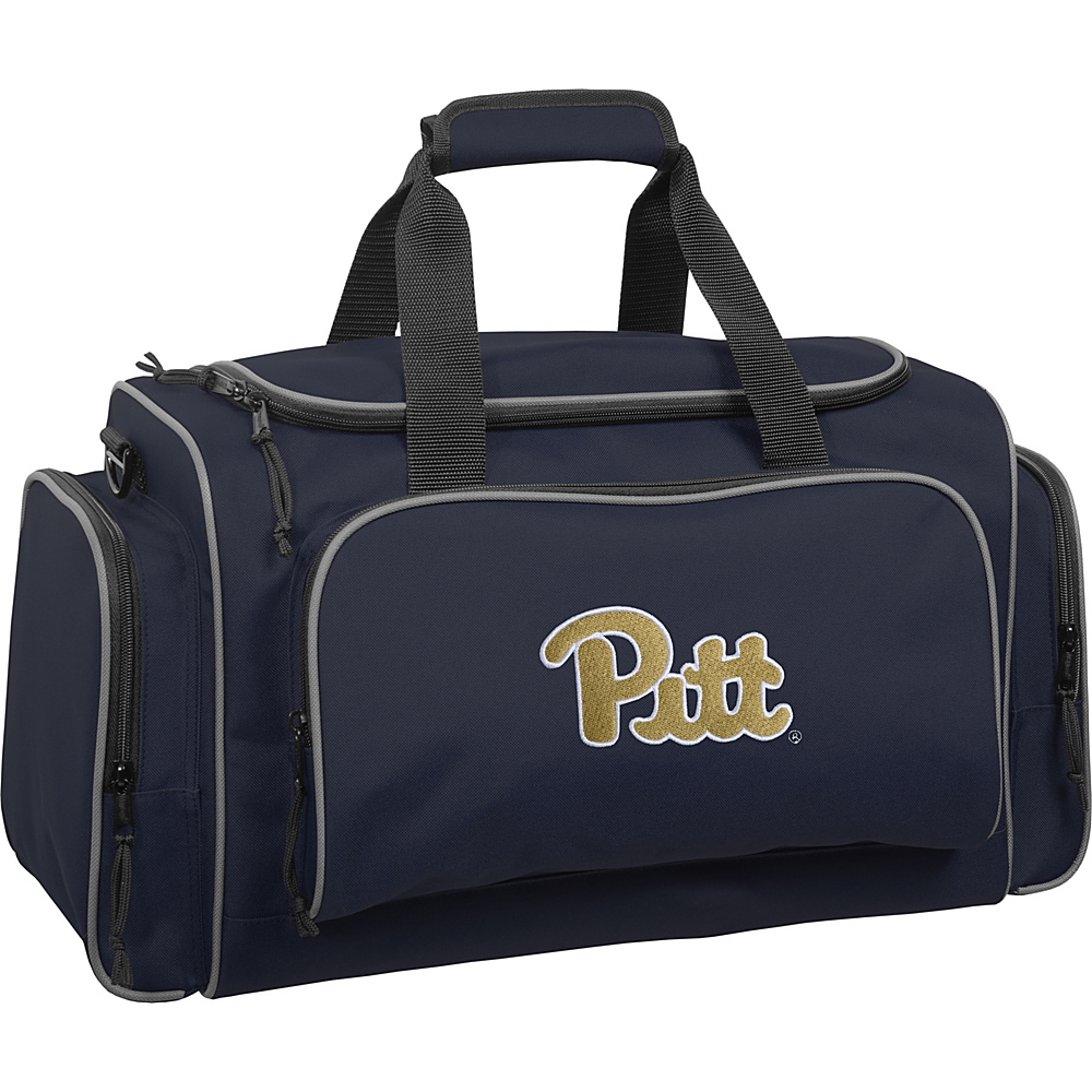 Wally Bags University of Pittsburgh Panthers 21 Collegiate Duffel Navy Wally Bags Rolling Duffels