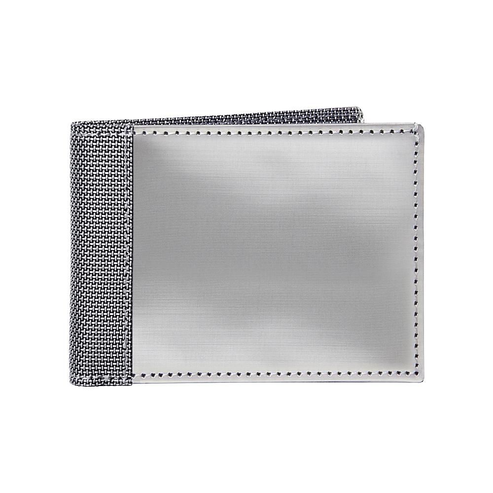 Stewart Stand Slim Bill Fold ID Stainless Steel Wallet RFID Silver Grey Mesh Stewart Stand Men s Wallets