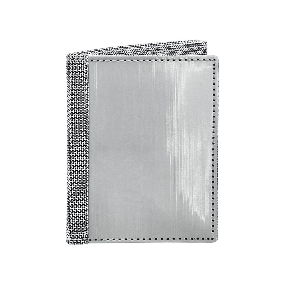 Stewart Stand Tri Fold ID Stainless Steel Wallet RFID Silver Grey Mesh Stewart Stand Men s Wallets