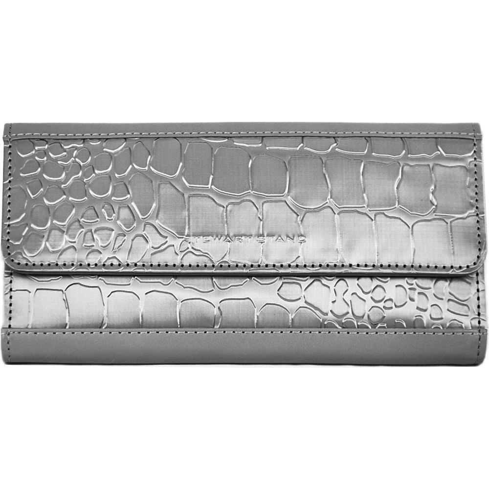 Stewart Stand Continental Stainless Steel Clutch RFID Silver Grey Stewart Stand Women s Wallets
