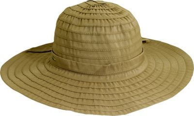 Scala Hats Sewn Ribbon Crusher One Size - Tan - Scala Hats Hats/Gloves/Scarves