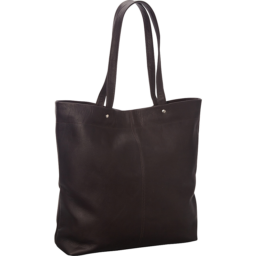 Le Donne Leather Deco Tote Cafe - Le Donne Leather Gym Bags - Sports, Gym Bags