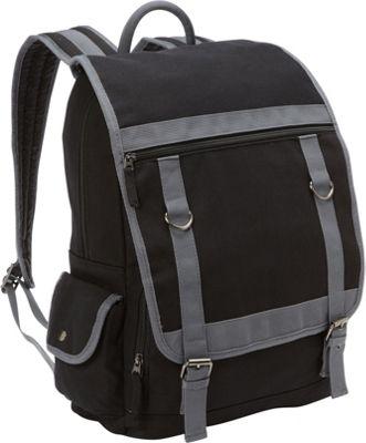 Bellino Expresso Canvas Compucase Black - Bellino Business & Laptop Backpacks