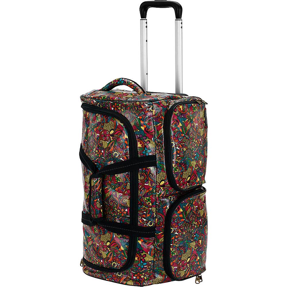 Sakroots Artist Circle Rolling Duffle Rainbow Spirit Desert - Sakroots Rolling Duffels - Luggage, Rolling Duffels