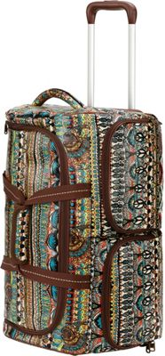 Sakroots Artist Circle Rolling Duffle Natural One World - Sakroots Rolling Duffels
