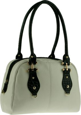 Buxton Bianca Satchel Black/Multi (BM) - Buxton Leather Handbags