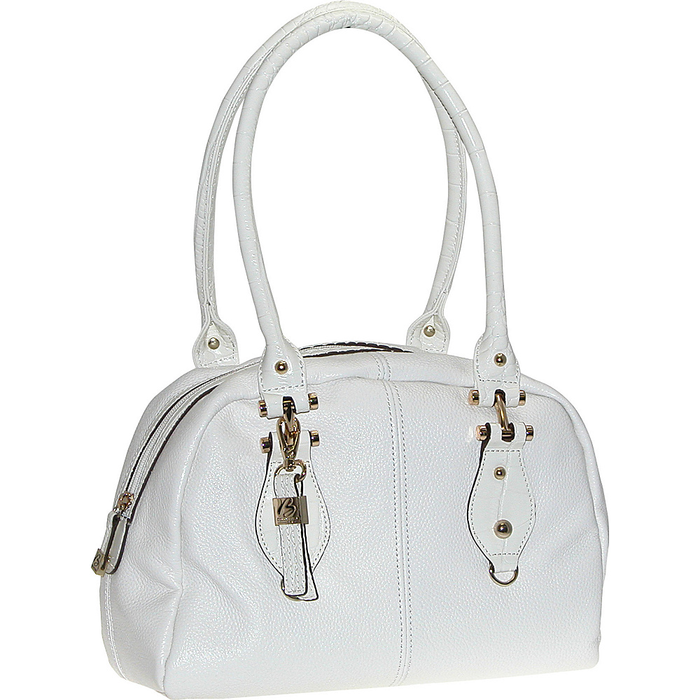 Buxton Bianca Satchel White - Buxton Leather Handbags